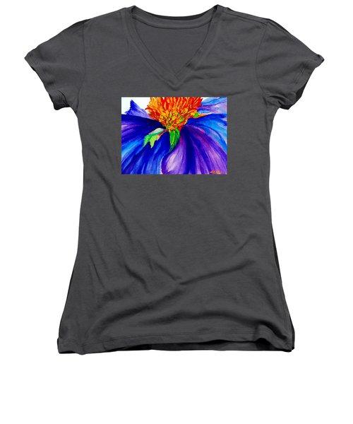 Graceful Curves Women's V-Neck T-Shirt (Junior Cut) by Lil Taylor