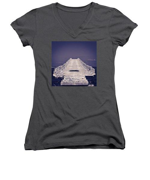 Overseas Railroad II Women's V-Neck T-Shirt