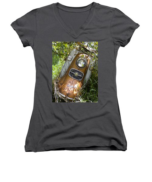 Scooter Rabbit Women's V-Neck T-Shirt (Junior Cut) by Renate Nadi Wesley