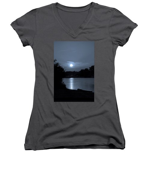 Twilight Women's V-Neck T-Shirt (Junior Cut) by Sue Stefanowicz