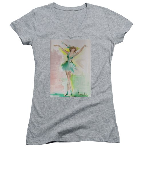 Dance Women's V-Neck T-Shirt (Junior Cut)