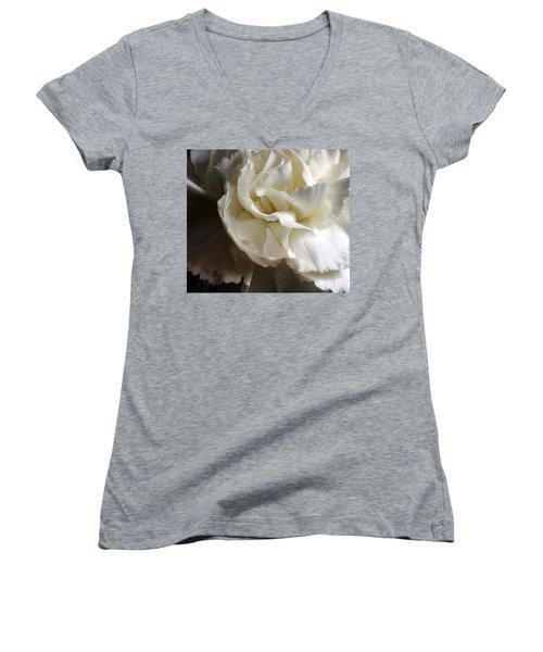 Women's V-Neck T-Shirt (Junior Cut) featuring the photograph Flower Beauty by Deniece Platt