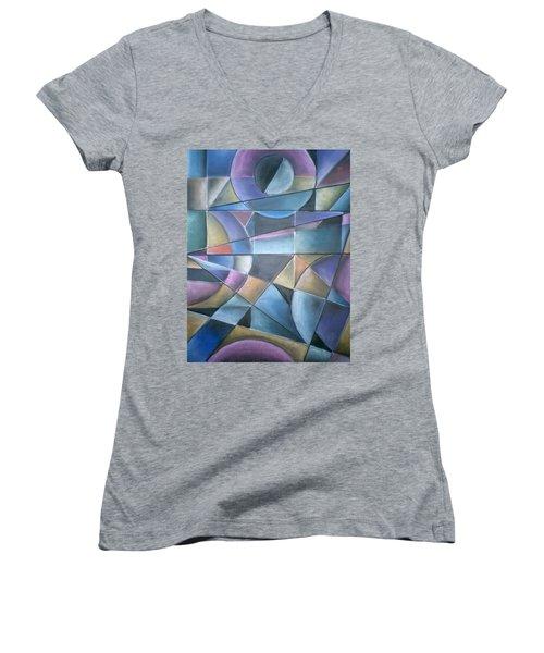 Light Patterns Women's V-Neck T-Shirt