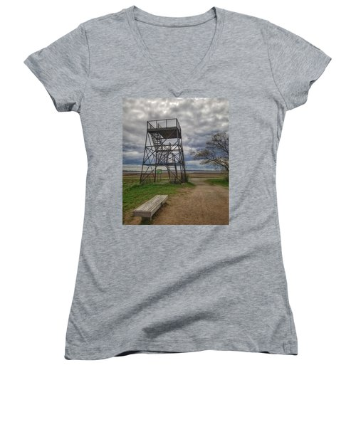 The Watchtower  Women's V-Neck (Athletic Fit)