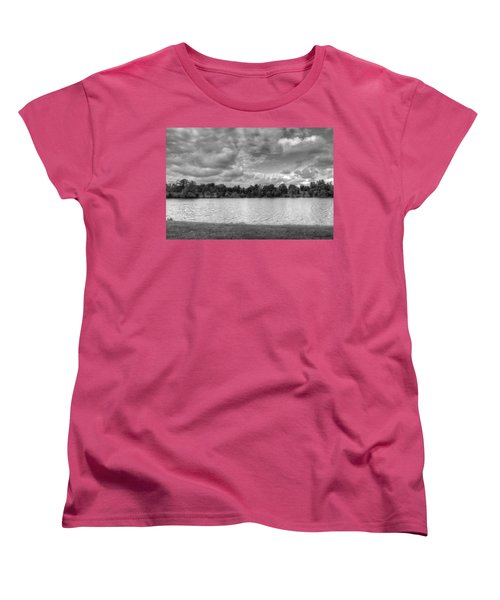 Women's T-Shirt (Standard Cut) featuring the photograph Black And White Autumn Day by Michael Frank Jr