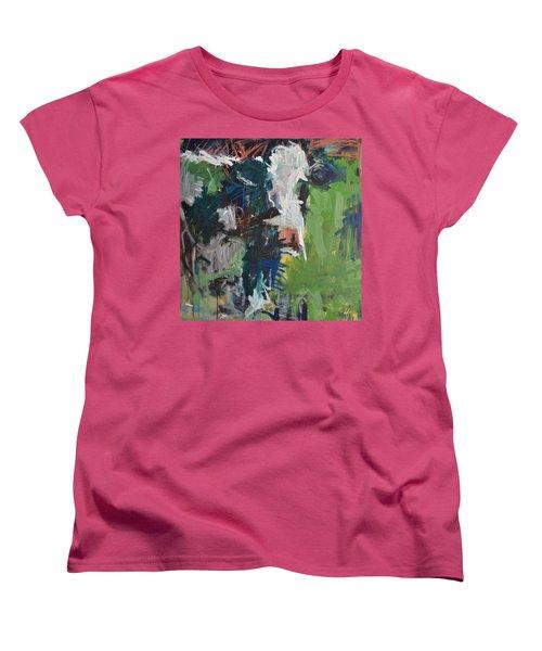 Cow Painting Women's T-Shirt (Standard Cut) by Robert Joyner