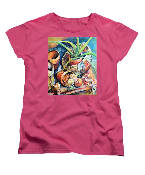 Baskets Women's T-Shirt (Standard Cut) by Linda Shackelford