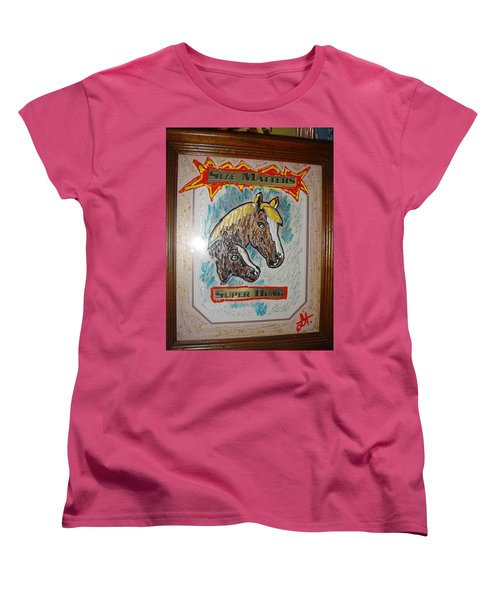 Women's T-Shirt (Standard Cut) featuring the painting Horses by Lisa Piper