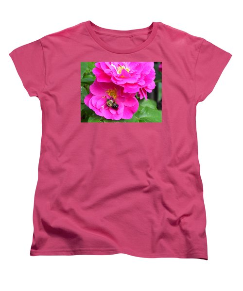 Jc And Bee Women's T-Shirt (Standard Cut) by Mary-Lee Sanders