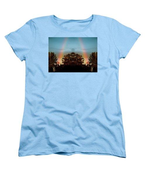 The Rainbow Effect Women's T-Shirt (Standard Cut) by Sue Stefanowicz