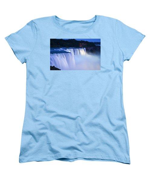 American Falls Niagara Falls Women's T-Shirt (Standard Cut) by Loriannah Hespe