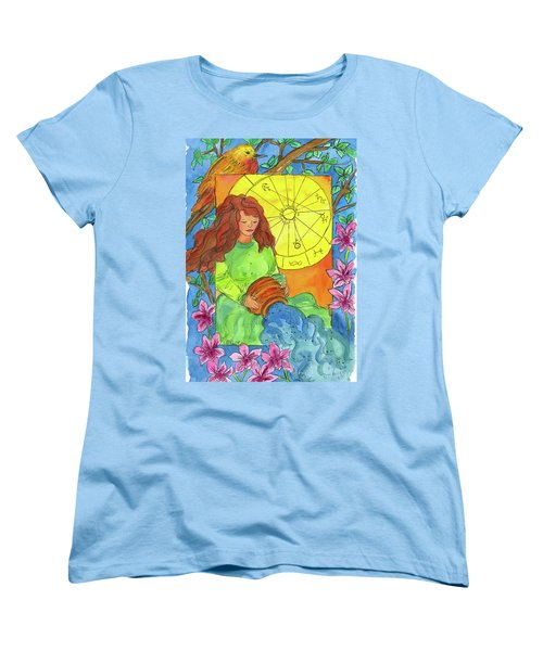 Women's T-Shirt (Standard Cut) featuring the painting Aquarius by Cathie Richardson