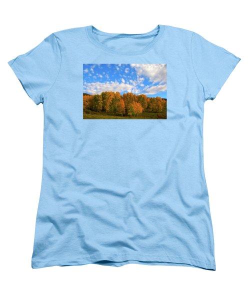Women's T-Shirt (Standard Cut) featuring the photograph Aspens by Steve Stuller