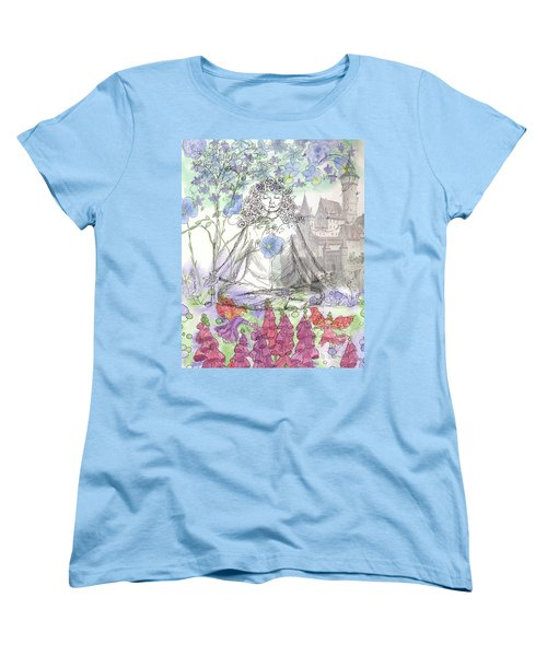 Women's T-Shirt (Standard Cut) featuring the painting Celestial Castle by Cathie Richardson