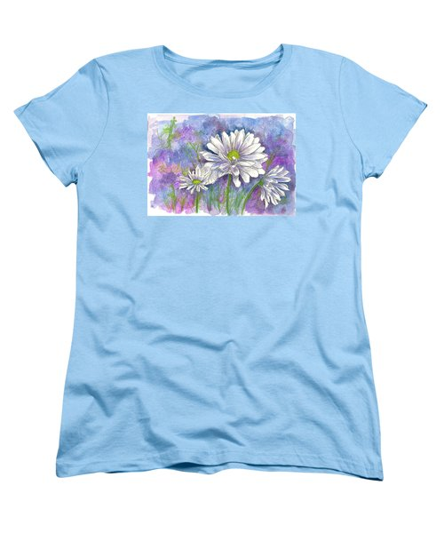 Women's T-Shirt (Standard Cut) featuring the painting Daisy Three by Cathie Richardson