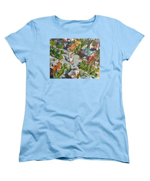Monument Avenue In Richmond Virginia Women's T-Shirt (Standard Cut) by Robert Joyner