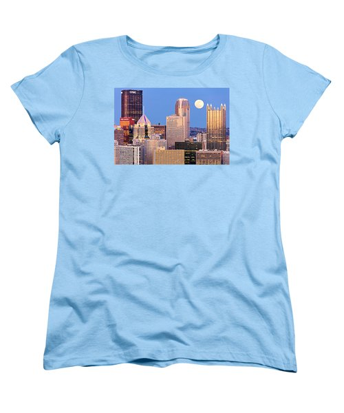 Moon Over Pittsburgh 2 Women's T-Shirt (Standard Cut) by Emmanuel Panagiotakis
