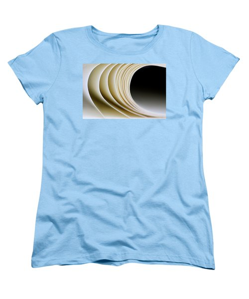 Women's T-Shirt (Standard Cut) featuring the photograph Paper Curl by Pedro Cardona