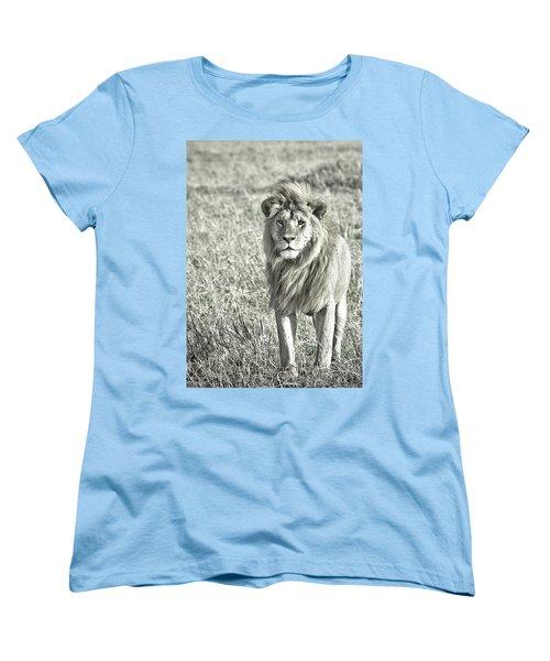The King Stands Tall Women's T-Shirt (Standard Cut) by Darcy Michaelchuk