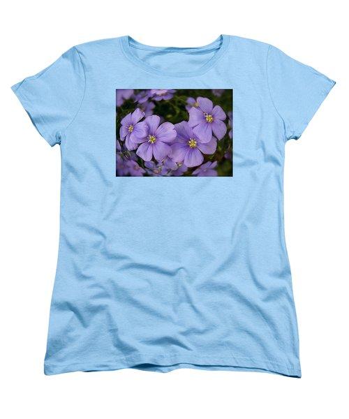 Vinca Under Glass Women's T-Shirt (Standard Cut) by Sue Stefanowicz