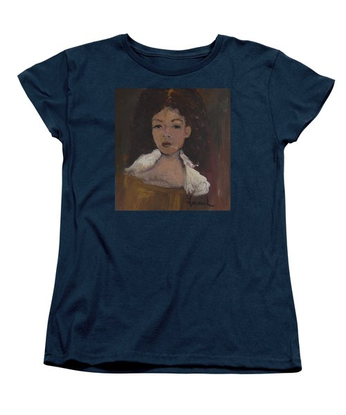 Women's T-Shirt (Standard Cut) featuring the painting Autumn Walking by Laurie L