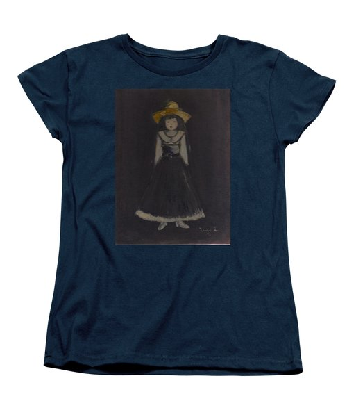 Women's T-Shirt (Standard Cut) featuring the painting Just A Beautiful Country Girl... by Laurie L