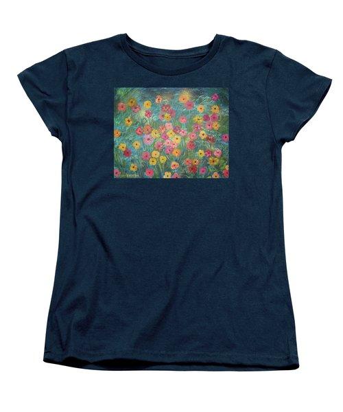 A Field Of Flowers Women's T-Shirt (Standard Cut) by John Keaton