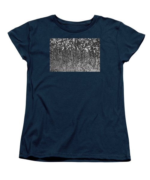 Cotton Abstract In Black And White Women's T-Shirt (Standard Cut) by Kathy Clark