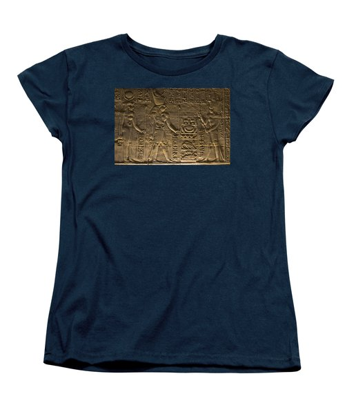 Hieroglyph At Edfu Women's T-Shirt (Standard Cut) by Darcy Michaelchuk