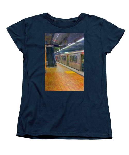 Women's T-Shirt (Standard Cut) featuring the photograph Hollywood Subway Station by David Zanzinger