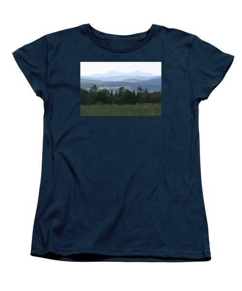 Jay Peak From Irasburg Women's T-Shirt (Standard Cut) by Donna Walsh