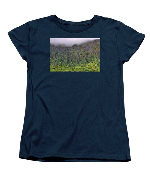 Ko'olau Waterfalls Women's T-Shirt (Standard Cut) by Dan McManus