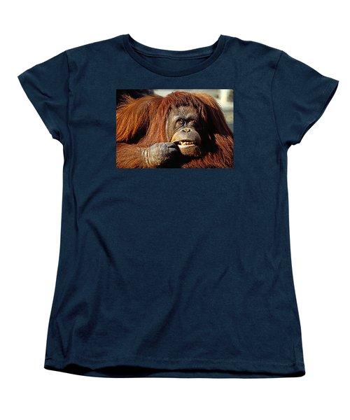 Orangutan  Women's T-Shirt (Standard Cut) by Garry Gay