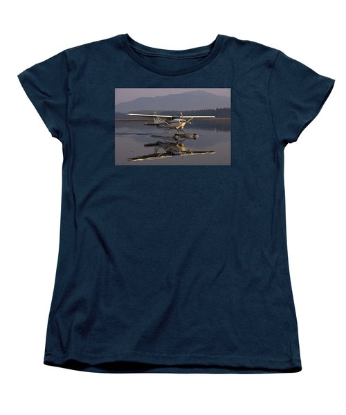 Reflections Of A Float Plane Women's T-Shirt (Standard Cut) by Darcy Michaelchuk