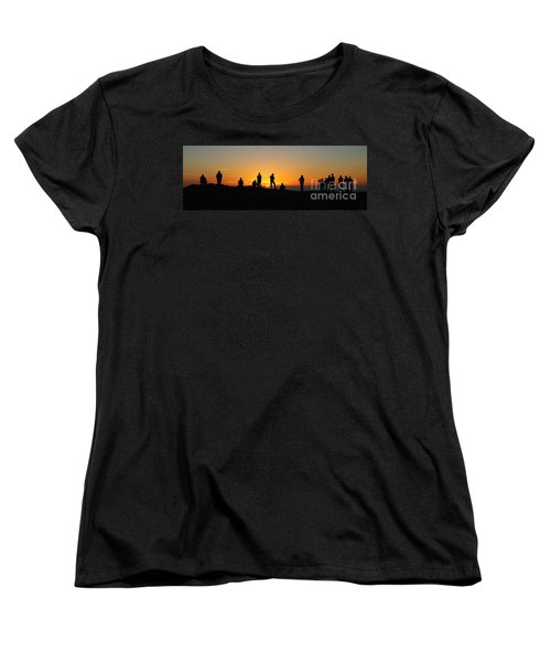 Panorama Everyone Likes A Sunset Women's T-Shirt (Standard Cut) by Vivian Christopher