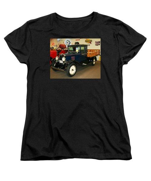 1930 Chevrolet Stake Bed Truck Women's T-Shirt (Standard Cut) by John Black
