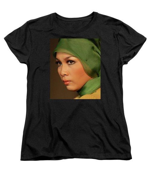 Portrait Women's T-Shirt (Standard Cut) by Charuhas Images