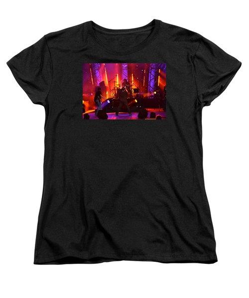 Women's T-Shirt (Standard Cut) featuring the photograph 2u A Tribute To U2 by Carol  Bradley