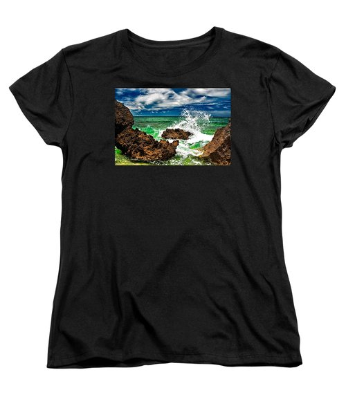 Blue Meets Green Women's T-Shirt (Standard Cut) by Christopher Holmes
