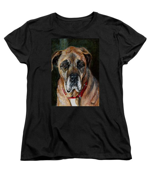 Boo For Dogtown Women's T-Shirt (Standard Cut) by Mary-Lee Sanders