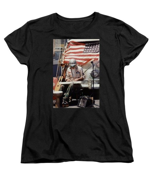 Women's T-Shirt (Standard Cut) featuring the photograph Born In The Usa by Mary-Lee Sanders