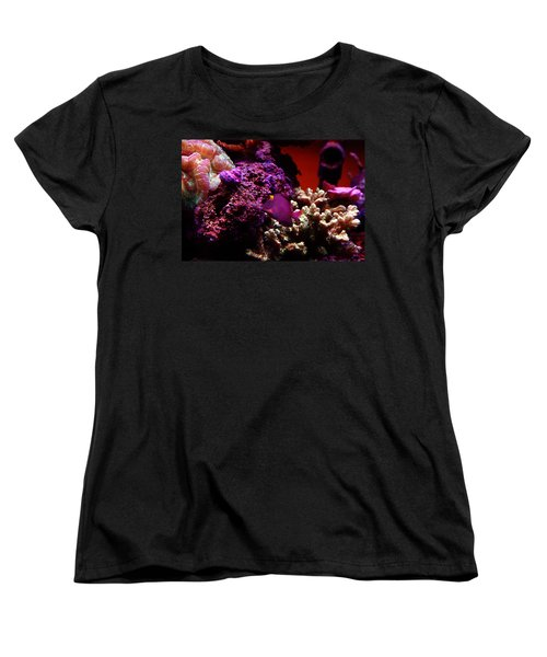 Colors Of Underwater Life Women's T-Shirt (Standard Cut) by Clayton Bruster
