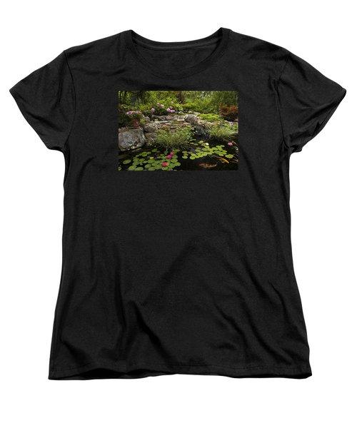 Garden Pond - D001133 Women's T-Shirt (Standard Cut) by Daniel Dempster