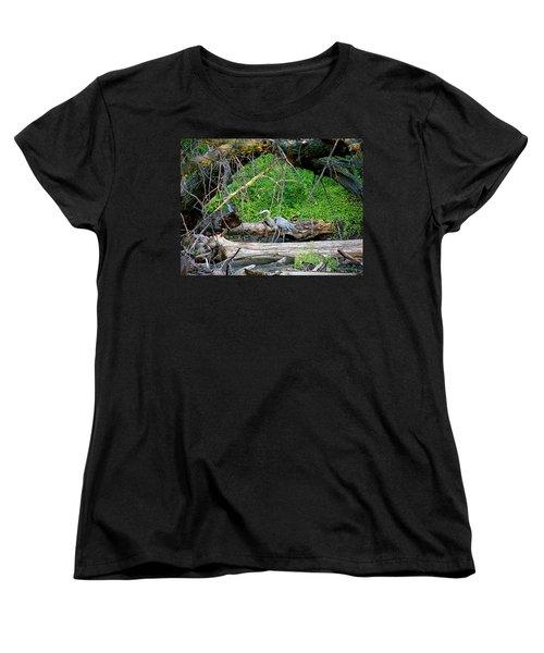 Heron Habitat Women's T-Shirt (Standard Cut) by Sue Stefanowicz