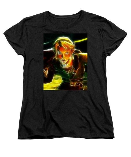 Magical Zelda Link Women's T-Shirt (Standard Cut) by Paul Van Scott