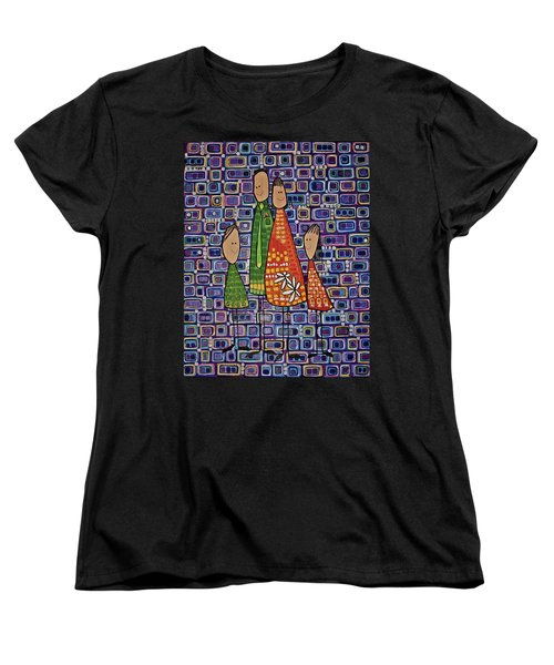 Women's T-Shirt (Standard Cut) featuring the painting One Of Each by Donna Howard