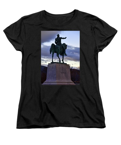 Washington Monument At West Point Women's T-Shirt (Standard Cut) by Dan McManus
