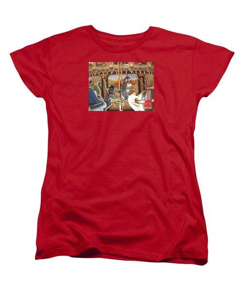 Women's T-Shirt (Standard Cut) featuring the photograph Philadelphia Style Cats by Barbara McDevitt