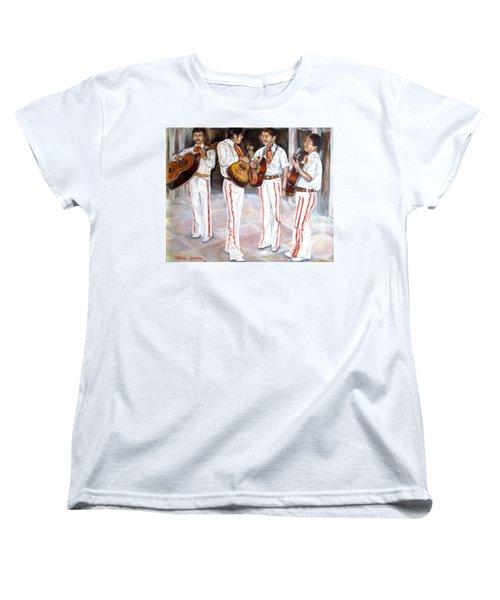 Women's T-Shirt (Standard Cut) featuring the painting Mariachi  Musicians by Carole Spandau