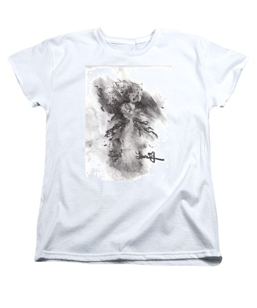 Women's T-Shirt (Standard Cut) featuring the drawing Rapture Of Peace by Laurie L